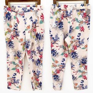 Zara Trafaluc Floral Print Pants